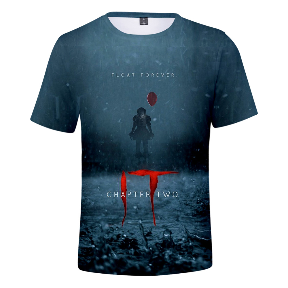 2019 New IT Chapter 2 3d T Shirt Men's Summer Breathable IT Chapter 2 Short-sleeved T-shirt XXS-4XL Harajuku T-shirt Streetwear