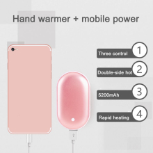 3000mAh Hand Warmer Rechargeable Pocket Heater Phone Power Bank Charger Hot Sale kbxstart usb handy hand heater deer bunny power bank mini rechargeable polymer electric pocket heater hand warmer usb verwarmer