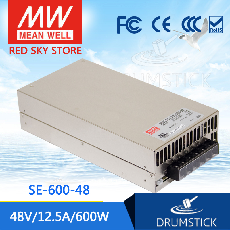 все цены на (Only 11.11)MEAN WELL SE-600-48 (1Pcs) 48V 12.5A meanwell SE-600 600W Single Output Power Supply онлайн