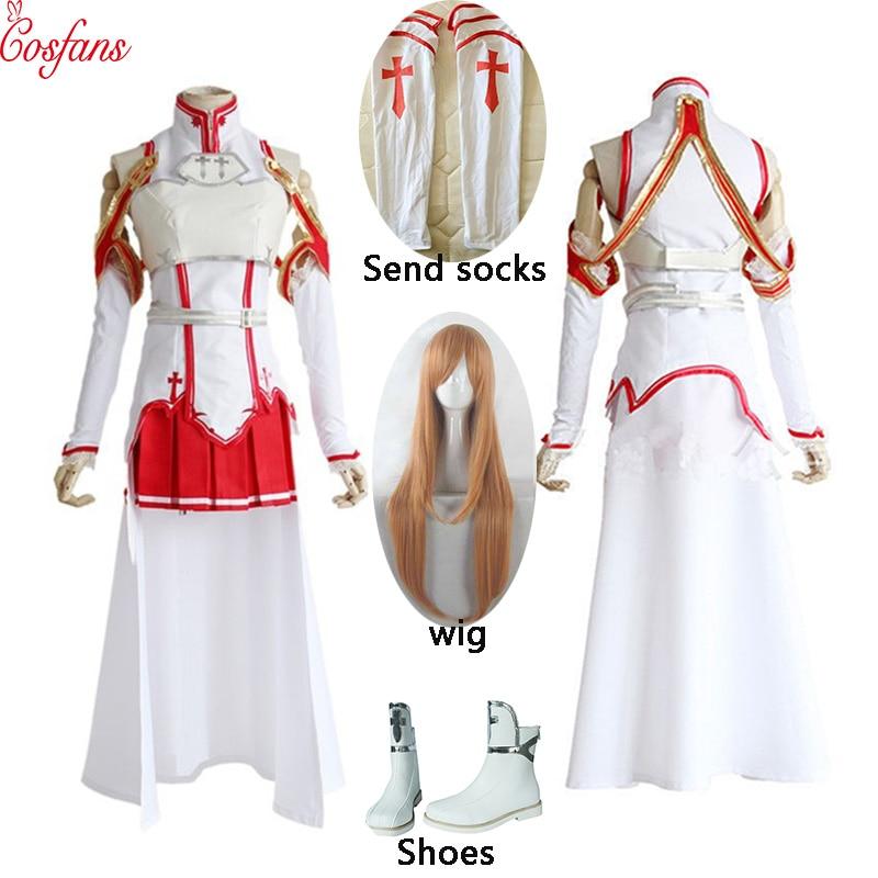 Asuna Yuuki Cosplay Costume Women Clothing Coat Apron Sword Art Online