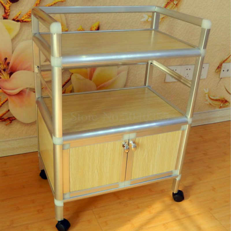 Modern minimalist open kitchen cupboard assembly physiotherapy medical beauty cart