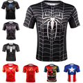 Sport Fitness Compression T Shirt Men Superman Spider Man Iron Man Short Sleeve 3D Printed T-Shirts Male Crossfit Running tshirt