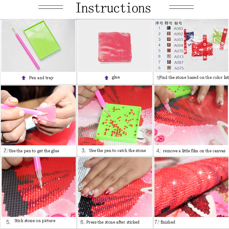 5d diy diamond painting cross stitch kits diamond embroidery pink rose flower round drill diamond mosaic pattern gift