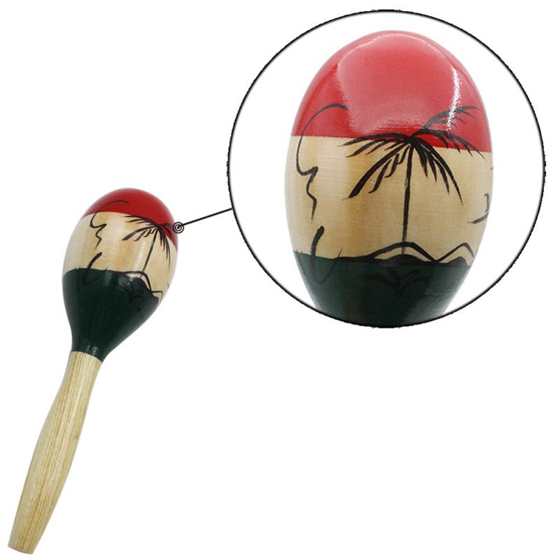 Good! Large Sand Hammer Children Adult Wooden National Style Built-in Iron-Sand Maraca Musical Instruments Party Accessories Im