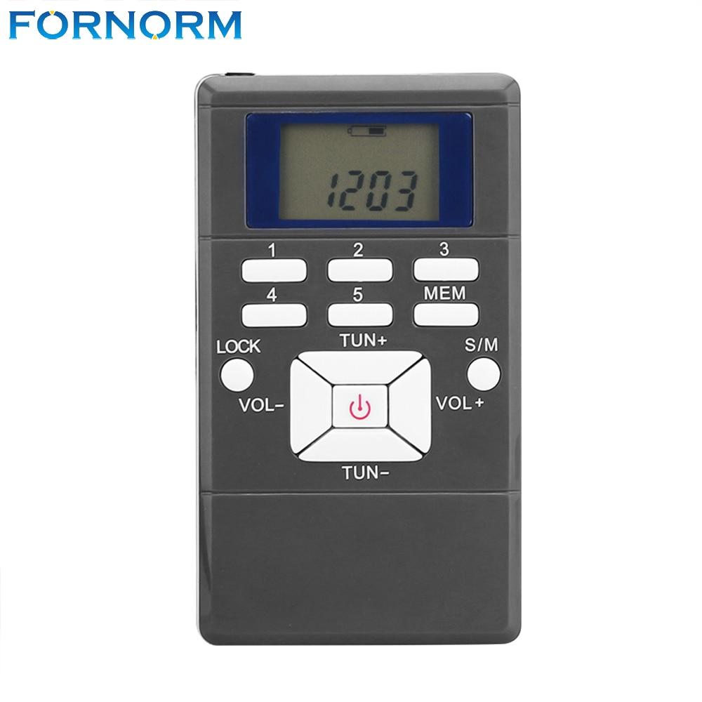 Fornorm Tragbare Mini Digitale Fm-radio-empfänger Tasche Led-anzeige Radio Schwarz Farbe Mit Kopfhörer/string Moderater Preis Unterhaltungselektronik