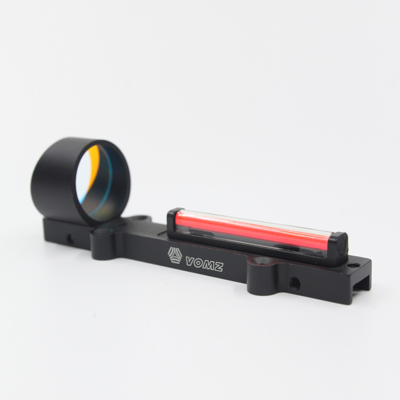 20mm Rail For Rifle Air gun Outdoor Hunting Shooting Tactical Fiber Red Dot Sight 1x28 Collimator Riflescope Sight Fit