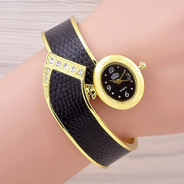 2016 New Fashion Casual Quartz Women Watch Braided Leather Bracelet Watch Gift R