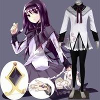 Athemis Puella Magi Madoka Magica/маскарадный костюм для косплея; Akemi Homura; волшебное зимнее платье для девочек; Униформа; эластичные штаны; теплые и мягкие