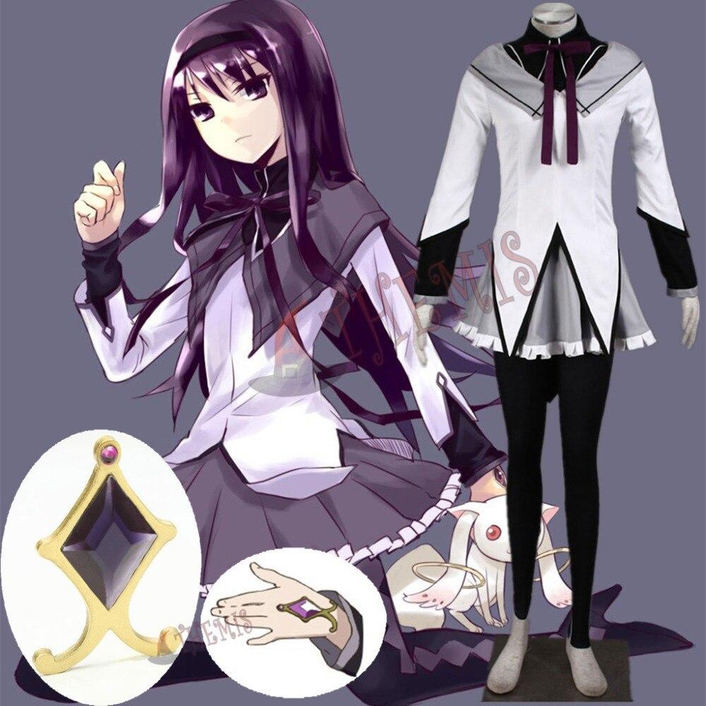 Athemis Puella Magi Madoka Magica Cosplay Akemi Homura Magical Girls Winter Dress Uniform Elastic Pants Warm and Soft