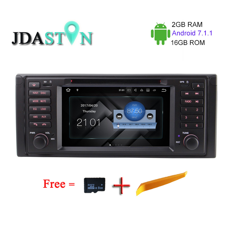 JDASTON 2G 16G 1Din 7Inch Android7 1 1 Car DVD Player for BMW E39 X5 M5