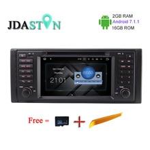 Android7.1.1 JDASTON 2G + 16G 1Din 7 Inch Reproductor de DVD Del Coche para BMW E39 X5 E53 M5 E38 Radio Navegación GPS Multimedia CANBUS BlueTooth
