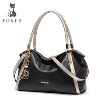 FOXER2018 High Quality Fashion Luxury Brand New Leather Handbag Shoulder Bag Large Bag Handbag Bulk Messenger
