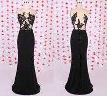 Chic Applikationen Meerjungfrau Abendkleider Lange Elegante Pinsel Zug Abendkleid robe de soiree vestido de festa Graceful Abendkleid