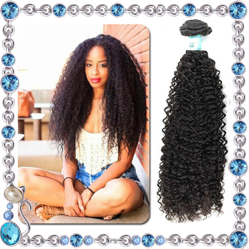 Indian Curly Virgin Hair Afro Kinky Curly Hair Natrual Black 100