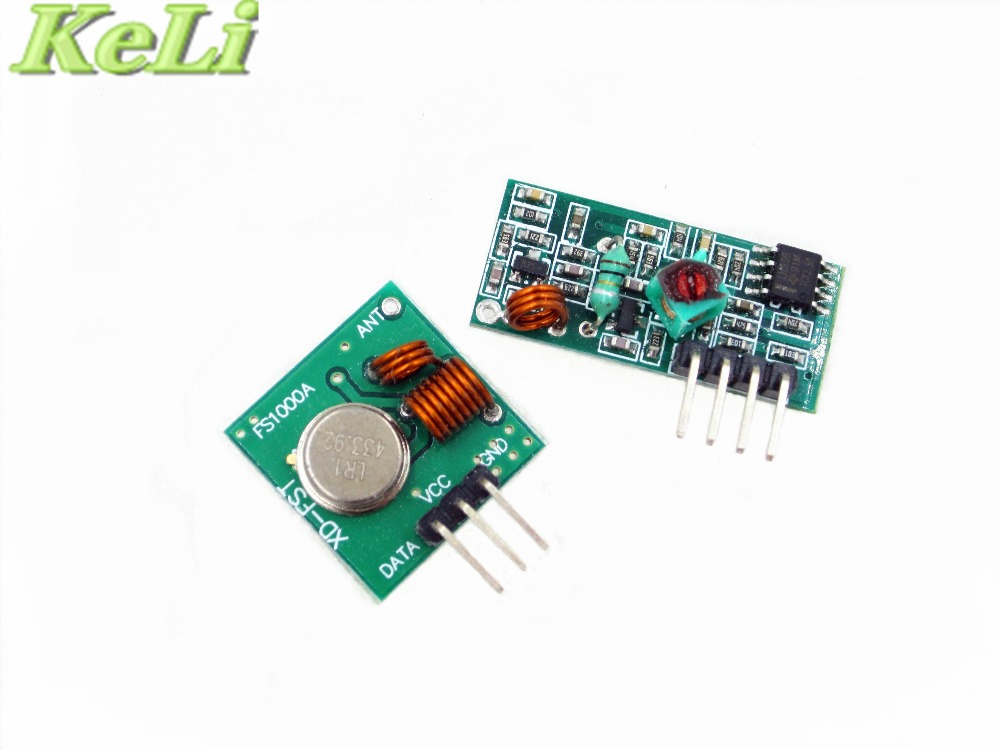 RF wireless receiver module transmitter module board super regeneration 315 433MHZ DC5V ASK OOK 25pair 50pcs