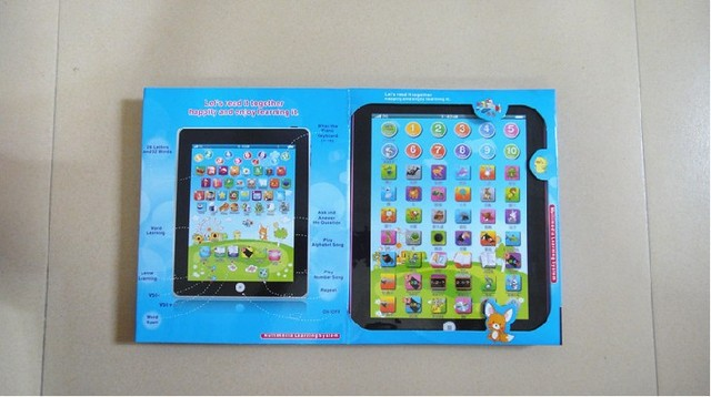 Free Shipping Ipad Children Learning Machine For Baby kids educational Toy,Six languages version,best gift for baby