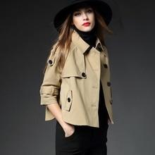 Womens Trench Coat Excessive High quality Khaki Black Autumn New Vogue Coats 2017