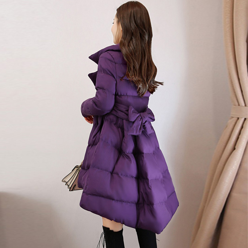 2019 New Jackets Winter Coat Thicks Fashion Fluffy Belt Long Woman Slim Warm Cotton Coat High end Korean Version Plus Outerwears in Parkas from Women 39 s Clothing