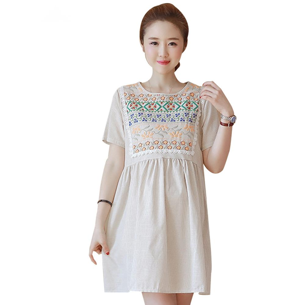 2017 summer retro vintage pregnancy dress cotton linen robe 2017 summer retro vintage pregnancy dress cotton linen robe maternity dress fashion maternity clothes pregnancy clothing in dresses from mother kids on ombrellifo Images
