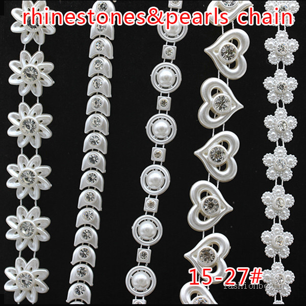 25m Diamante Chain Trim Clear Crystals Sparkling Rhinestone for Making Nacklace