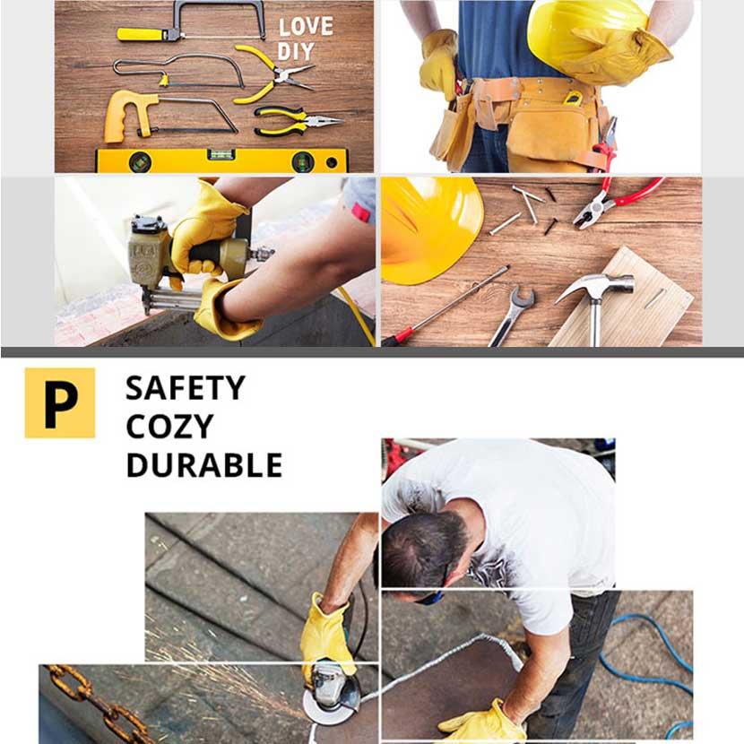 Jianbo deri iş sürücü eldiven mekanik koruma çalışma - Güvenlik ve Koruma - Fotoğraf 6