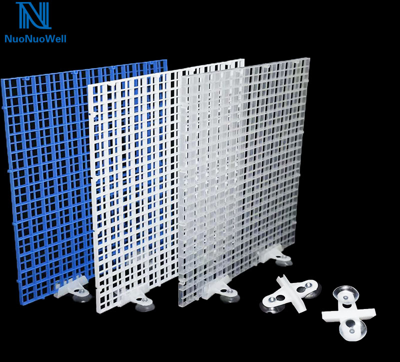 NuoNuoWell DIY Aquarium Filtration Grid Plate Fish Tank Isolation Board Divider Filter Patition Board 1cm*1cm Hole 6PCS