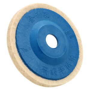 Image 5 - LEEPEE 10 sztuk/zestaw polerka szlifierka kątowa koła czuł koło z wełny tarcza do polerowania zestaw podkładek 9.5cm wełna talerze polerskie