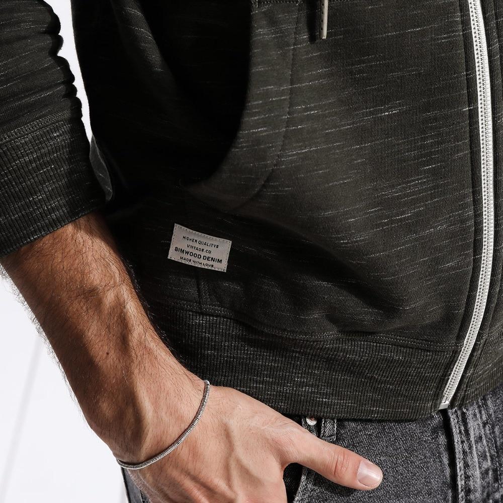 Vente Simwood 2019 Printemps Hiver Nouveau Zip Up Hoodies Hommes