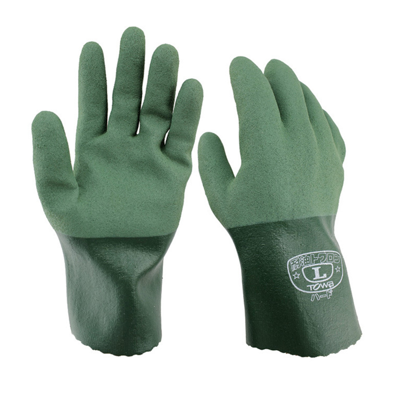 Working Glove Green Acid Alkali Ressistant Gloves Nitrile + Rubber Oil Resistant Anti-skid Protection Wear 10 pairs pack acid and alkali extra strong medical black free nitrile disposable gloves electronics food medical laboratory