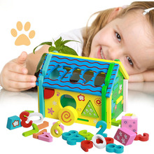 Baby Puzzle Early Education Toy Combination Wisdom House Digital Shape Disassembly Geometry