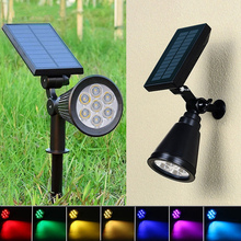 5 PCS 7 LED Solar Lawn Light Color Waterproof Spotlights For Outdoor  Garden Decoration Wall Changing Lighting