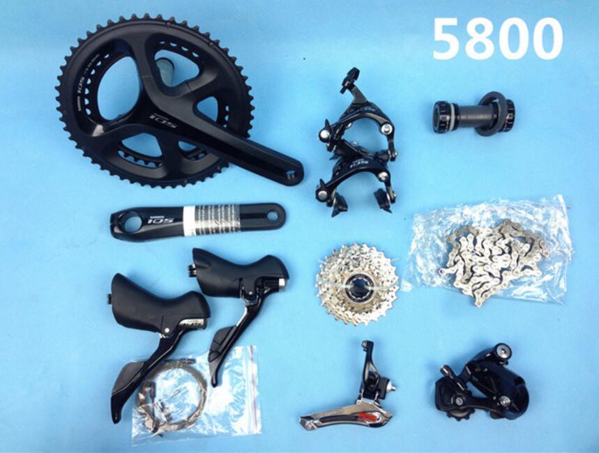 Groupe Shimano 105 5800 2x11 S 22 S vitesse 50-34 T 52-36 T 53-39 T 170mm 172.5mm 175mm Kit pour dérailleurs de vélo de route