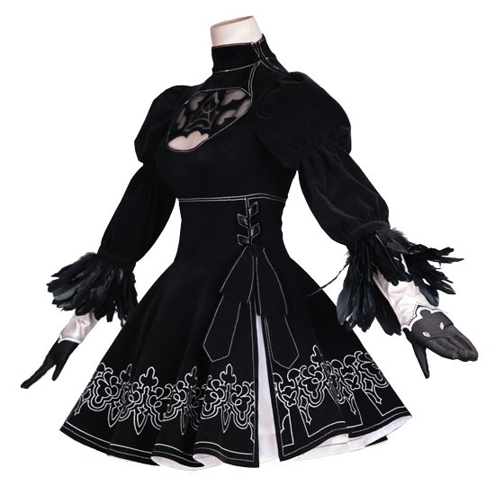 NieR:Automata YoRHa 2B COSPlay  Handsome Black Suit (8pcs)cosplay Clothes Cosplay High Quality