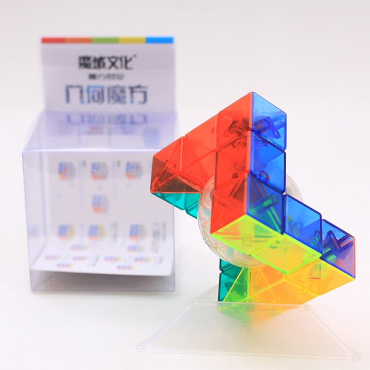 Newest Toys Moyu MoFangJiaoShi Geo Magic Cube Puzzle Triangle Shape Puzzle Twist Educational Kid Toys Games Drop Shipping