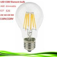 1X Led Filament Bulb Home Lighting Ampoule Led COB E26 E27 Dimmable 2W 4W 6W 8W