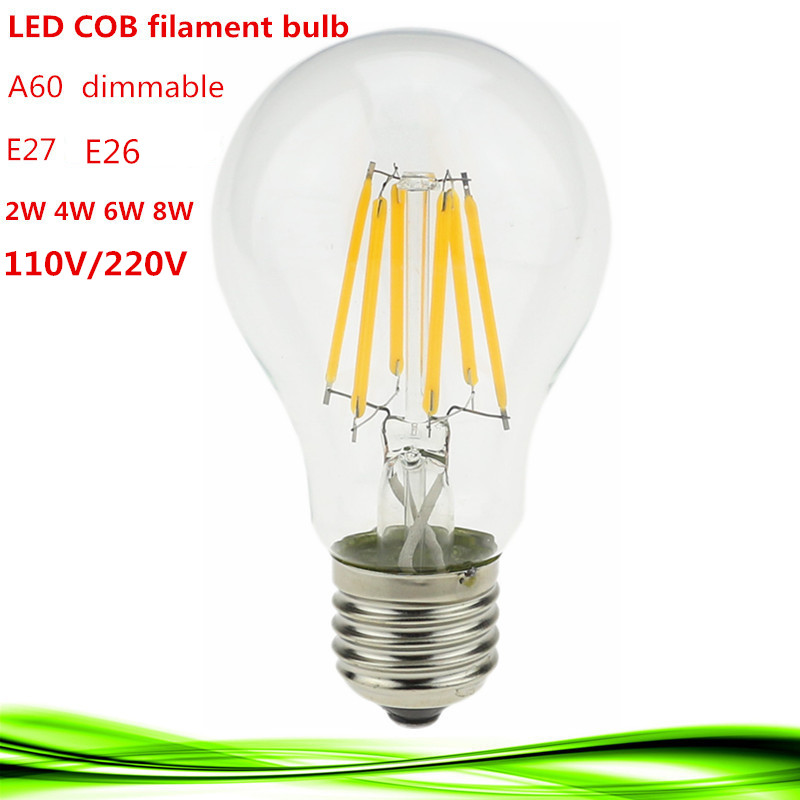 1x led filament bulb home lighting ampoule led cob e26 e27. Black Bedroom Furniture Sets. Home Design Ideas