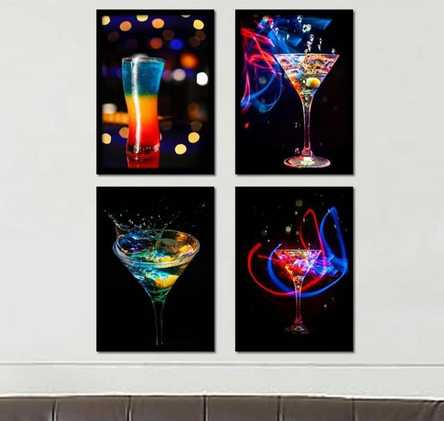 Modern Bar Decor Giclee Wall Art Oil Painting(No Frame) On Canvas ...