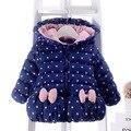 Alta qualidade mão das meninas de algodão acolchoado roupas de inverno 2016 novo espessamento das crianças quentes do bebê do bebê do algodão-acolchoado jacket clothing