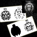 Step by Step Airbrush Templates Stencil BPS-001 Skull Pile Airbrushes Painting Stencil Templates