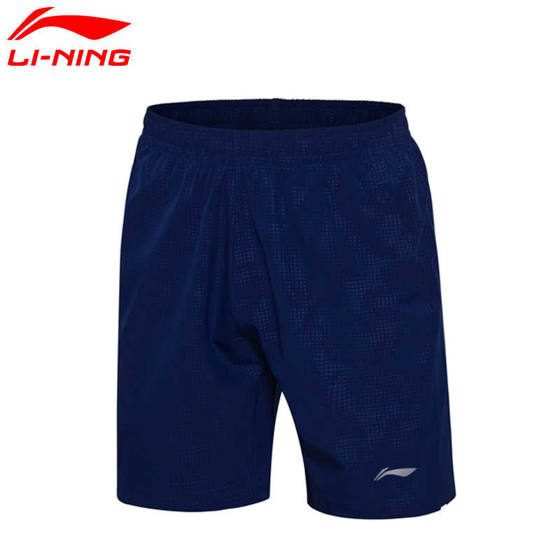 Li-Ning Men Badminton Shorts Competition Bottom AT DRY Polyester Comfort Breathable LiNing Sports Shorts AAPM067