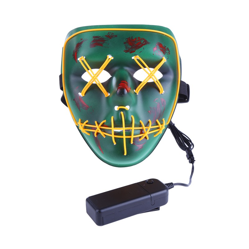 Halloween Glowing Masks Led Light Flashing Funny Horror Mask The Purge Election Year Great Festival Glow In Dark Cosplay Costume