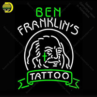 Ben Franklins Tattoo Neon Sign Bulb Handcraft Iconic Sign light Neon Lamps Sign art store display advertise enseigne lumine