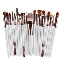 Pro 15 Pcs Professional Eye Shadow Foundation Eyebrow Eyeliner Lip Brush Makeup Brushes Tool Make Up Kits maquiagem