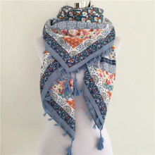 Fashion Floral Cotton Scarves And Wraps