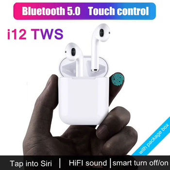 Bluetooth 5.0 Earphone I12 TWS Air Pods Wireless Earphones Touch Control Headphones Auriculares Bluetooth Inalambrico Headset magnetic attraction bluetooth earphone headset waterproof sports 4.2