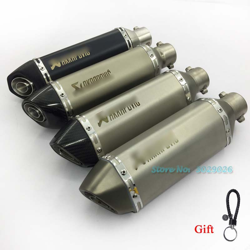 36-51mm Universale Silenziatore di Scarico Tubo con DB killer Per GY6 R1 R3 R6 FZ6 La Maggior Parte Del Motociclo ATV Marcatura Laser Fuga
