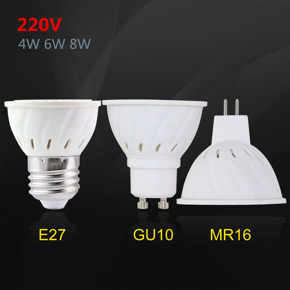 1pcs high bright e27 mr16 gu10 220v 230v led spotlight smd. Black Bedroom Furniture Sets. Home Design Ideas
