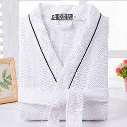 الهراء القطن bathrobe الرجال الصيف النساء نايتجوين ملابس خاصة السيدات بطانية منشفة الصوف عشاق طويلة لينة رداء الربيع