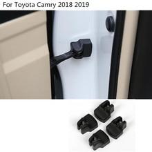 Corpo do carro anti ferrugem fechadura Da Porta à prova d' água chave chaves de Plástico fivela dispositivo de limite de XV70 guarnição 4 pcs Para O Novo Toyota Camry 2017 2018 2019