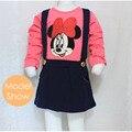 2016 estilo Lolita niña vestido de los cabritos para bebés ropa otoño primavera verano estilo de manga larga envío gratuito